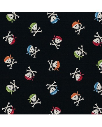 PIRATE - SCULL AND CROSSBONES - BLACK