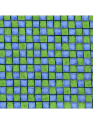 21012-MISS CUTIE PATOOTIE - SQUARES - BLUE-GREEN