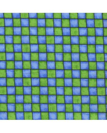 MISS CUTIE PATOOTIE - SQUARES - BLUE-GREEN