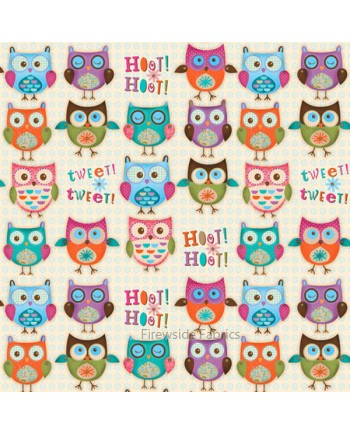WOODLAND CRITTERS - OWLS - WHITE