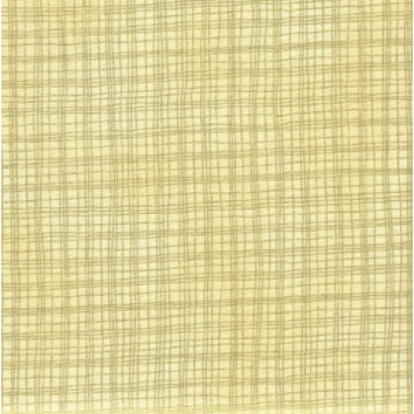 VENETIAN HOLIDAY - CHECK - CREAM/GOLD- BY HOFFMAN