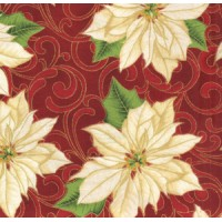 WINTER IN BLOOM - POINSETTIA - RED - BY HOFFMAN
