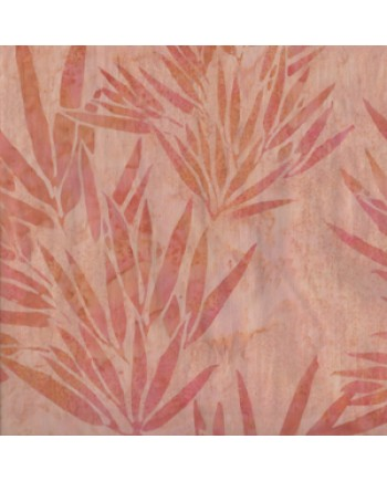BALI BATIK - PEACH LEAVES  (1 Left)