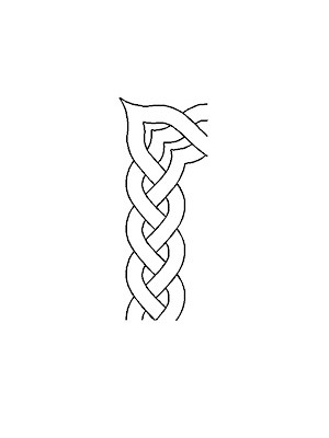 "QUILTING STENCIL - BRAID BORDER   4"" (10cm) wide"