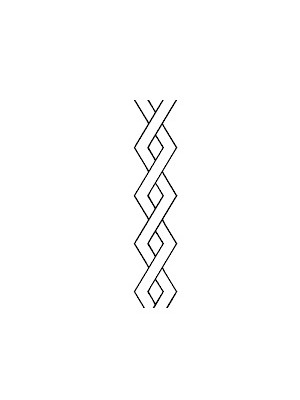 "QUILTING STENCIL - DIAMOND CABLE   3"" (7.6cm) WIDE"