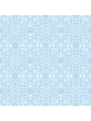 3603 - TEACUPS AND ROSES - QUILT - BLUE