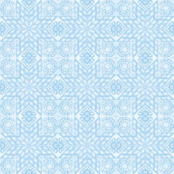 TEACUPS AND ROSES - QUILT - BLUE