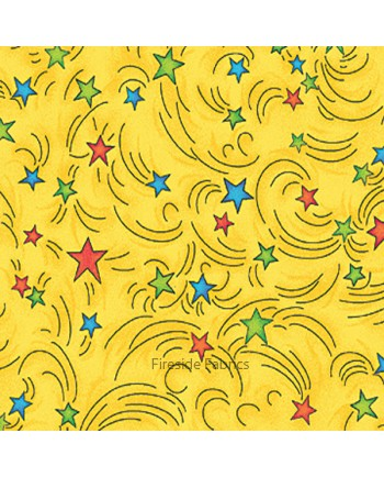 MAGICAL DRAGONS - STARS - YELLOW