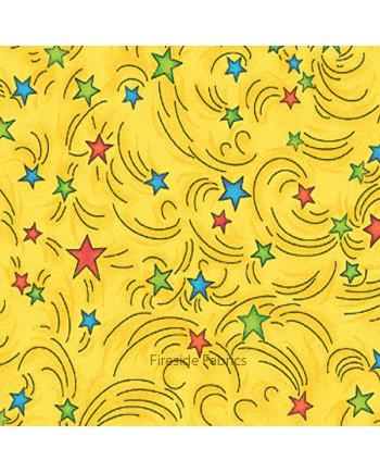 MAGICAL DRAGONS - STARS - YELLOW