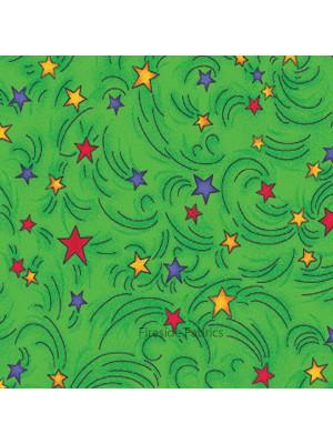 MAGICAL DRAGONS - STARS - GREEN