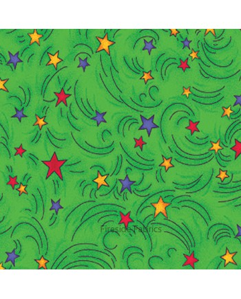 MAGICAL DRAGONS - STARS - GREEN
