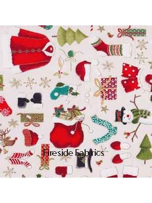 NOVELTY CHRISTMAS CLOTHES - CREAM