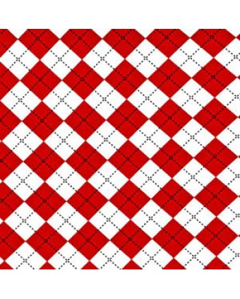 DIAMOND CHECK - RED