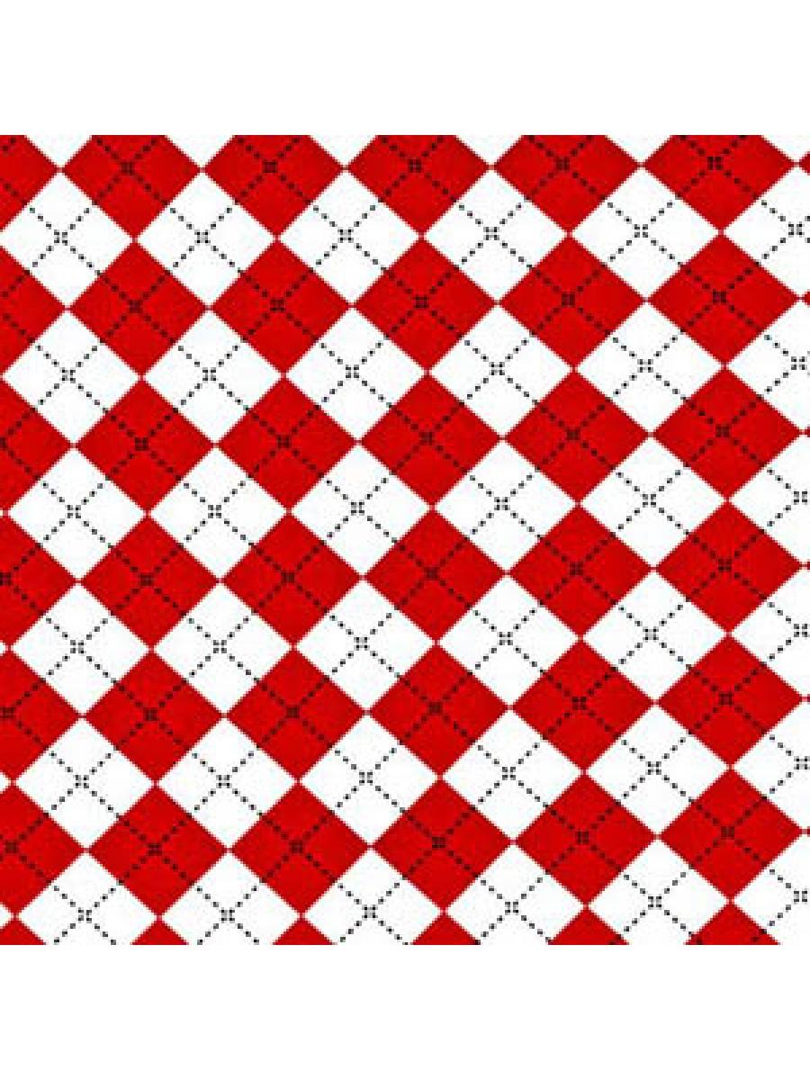 DIAMOND CHECK - RED