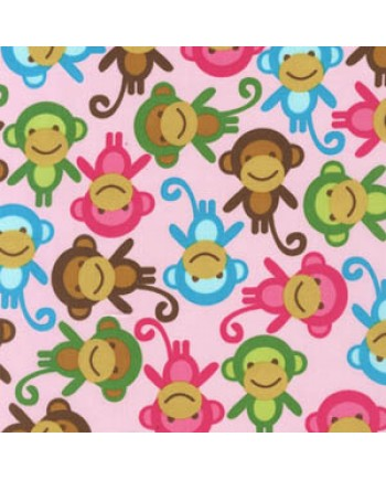 URBAN ZOOLOGIE - MONKEY - PINK (1 Left)
