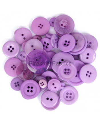 TRIMITS BUTTON PACK - PUPLE
