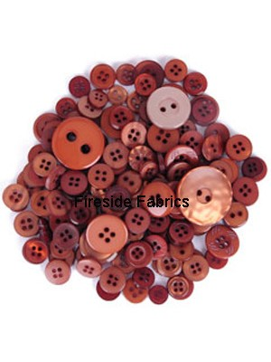 TRIMITS BUTTON PACK - TABAC BROWN