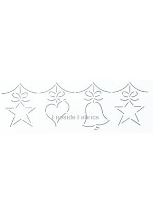 "QUILTING  STENCIL - CHRISTMAS GARLAND 4"" - (10cm) wide"