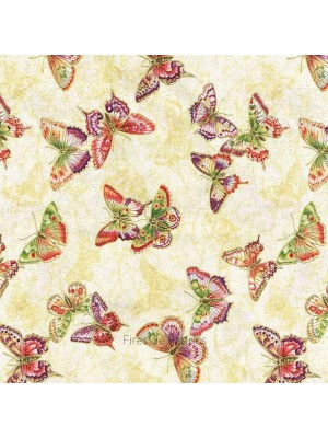 TEA HOUSE - BUTTERFLIES - CREAM (2 left)