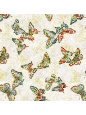 TEA HOUSE - BUTTERFLIES - TEAL