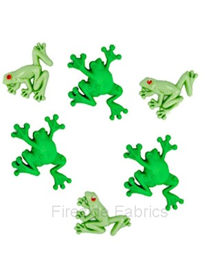 DRESS IT UP BUTTONS - TREE FROGS