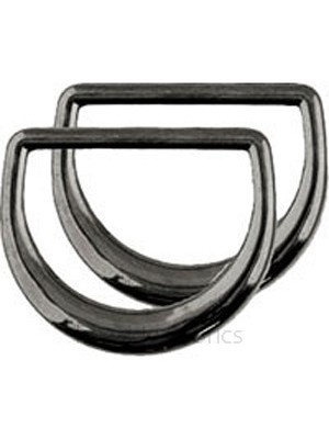 2 D-RING PACK -  20mm - BLACK NICKEL