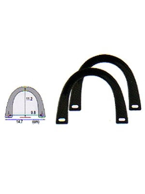 U-SHAPE HANDLES - BLACK