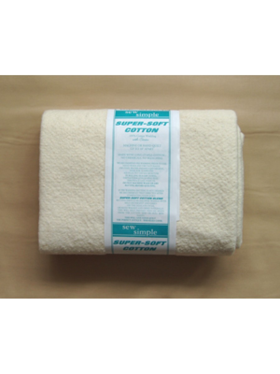 WADDING - SUPER SOFT COTTON - LAP SIZE