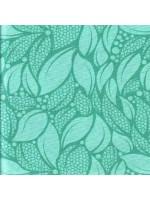 LUSH - TOSSED LEAVES - TURQ-GREEN