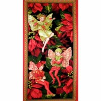 HOLIDAY FLOWER FAIRY  PANEL