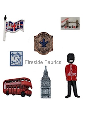 DRESS IT UP BUTTONS - DESTINATION - LONDON