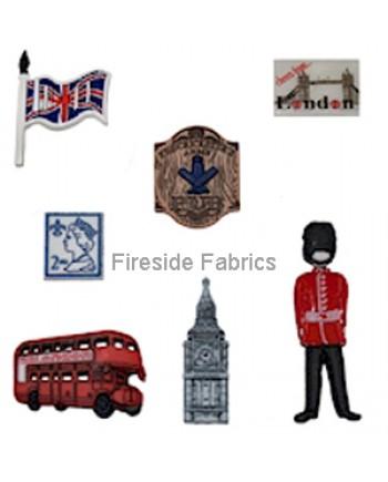 DRESS IT UP BUTTONS - DESTINATION - LONDON
