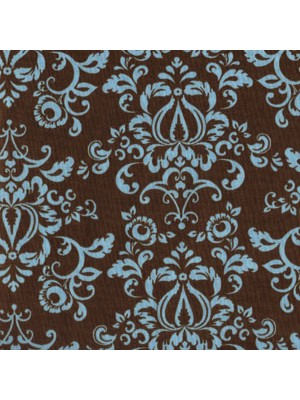EIP11028-70 - AQUA AND CHOCOLATE - FLORAL