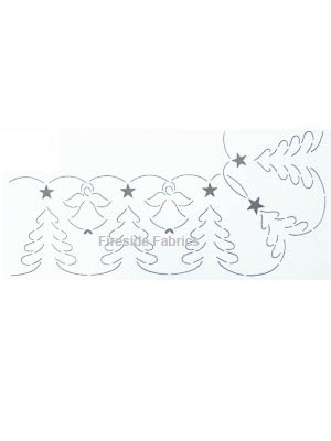 "QUILTING STENCIL - ANGEL TREE   5"" - (12.7cm) WIDE"