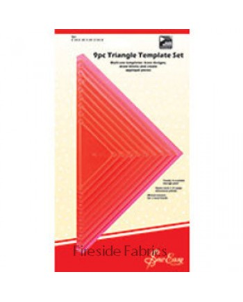 9PC TRIANGLE TEMPLCE SET