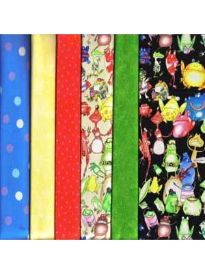 FROGS - 6 FAT QUARTER PACK