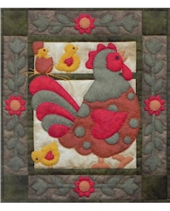 SPOTTY ROOSTER - WALL QUILT KIT