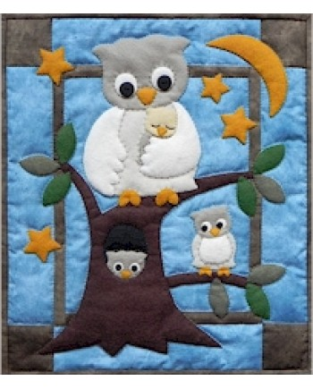 OWL FAMILY - WALL QUILT KIT