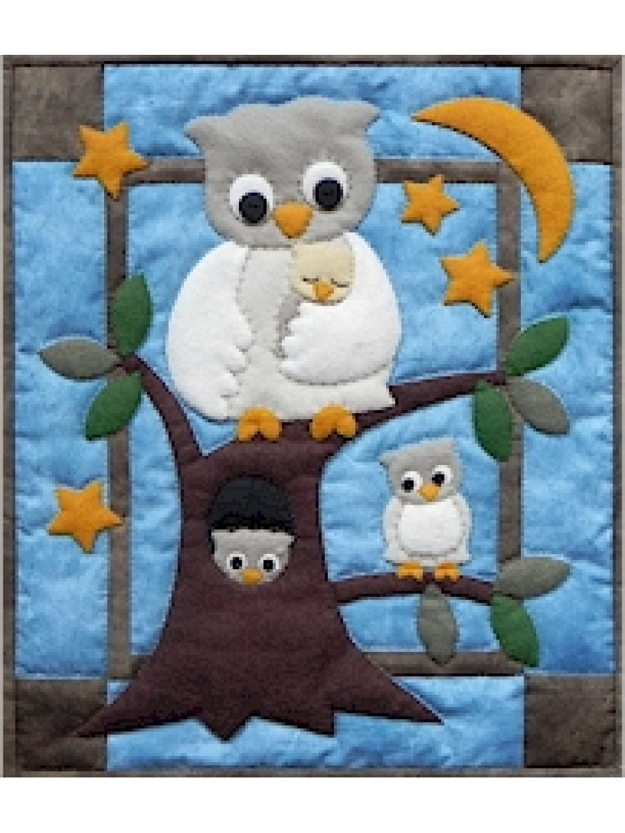 OWL FAMILY - WALL QUILT KIT