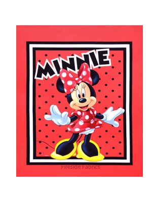 MINNIE LOVES TO SHOP COT PANEL