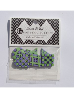 17 - GEOMETRIC BUTTON PACK - GREEN-MAUVE