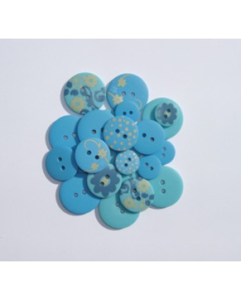 BUTTON PACK - BLUE