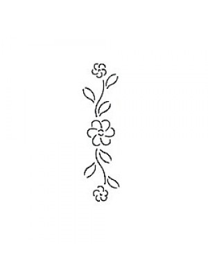 "QUILTING STENCIL - FLOWER BORDER   2.5"" (6cm) WIDE"
