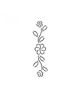 """QUILTING STENCIL - FLOWER BORDER   2.5"""" (6cm) WIDE"""