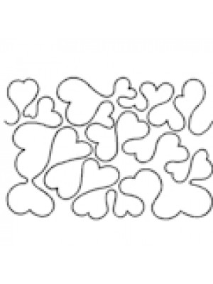 "QUILTING STENCIL - HEART PUZZLE   7 1/2""  (19cm) WIDE"