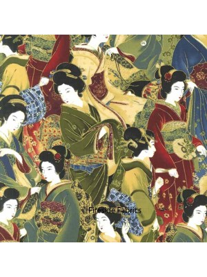 SRKM14206-91 - ORIENTAL TRADITIONS - GEISHA CROWD - MULTI