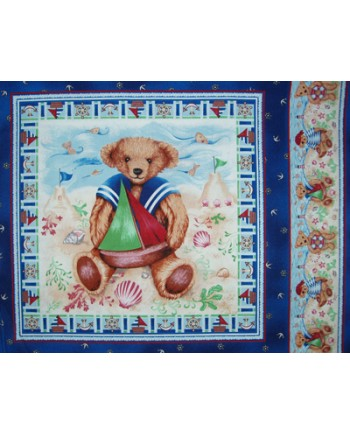 SAILOR BEAR CUSHION PANEL