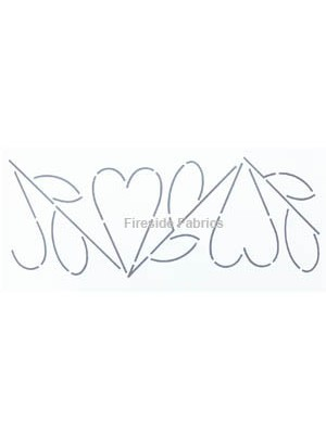 "QUILTING STENCIL- HEART BORDER  3.5""  (9cm)  wide"
