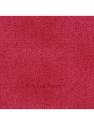 1031R - MOCHA - SCROLLS - RED