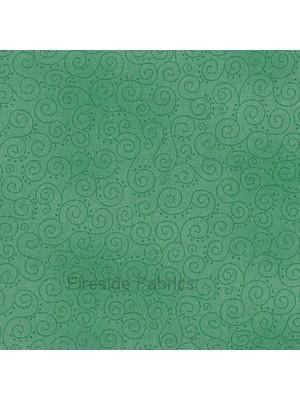 1031T - MOCHA - SCROLLS - TURQUOISE GREEN